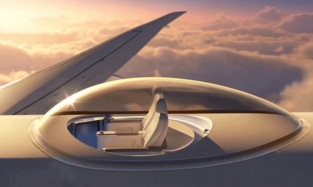 New potential aircraft feature SkyDeck promises the ultimate views while flying